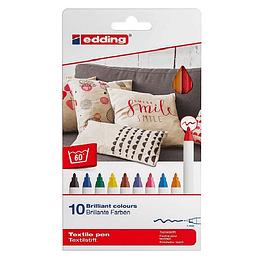 Marcadores Textiles Edding 4600 X 10 Unidades