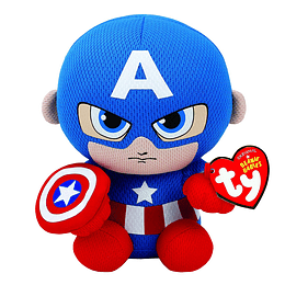 Peluche Ty Marvel Capitan America Regular