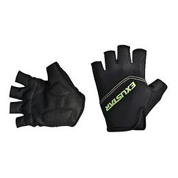 Guantes Dedo Corto S/Velcro Negro/Verde Exustar