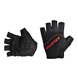 Guantes Dedo Corto S/Velcro Negro/Rojo Exustar