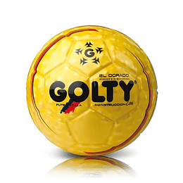 Balón Futbol Sala Profesional Golty Dorado Cmi