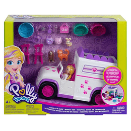 Polly Pocket Hospital Móvil De Animalitos