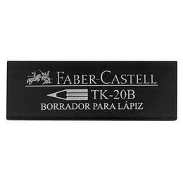 Borrador Faber-Castell TK-20 Negro