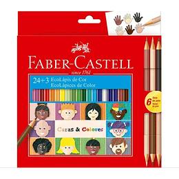 Colores Faber-Castell Caras Y Colores 24 + 3