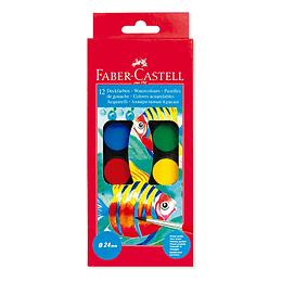 Estuche De Acuarelas Faber-Castell X 12 Colores