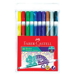 Plumones Faber-Castell Bicolor X 10 Unidades