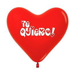 Globo Corazón Fashion Rojo Te Quiero  x 12