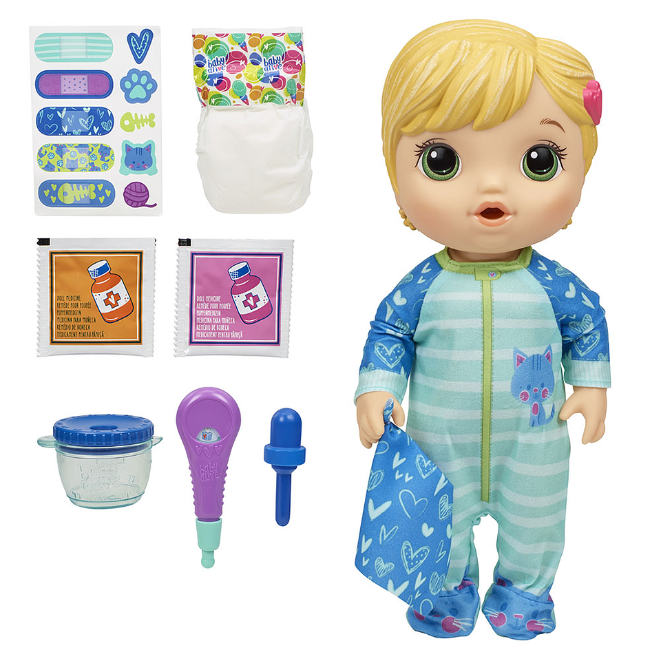 Baby Alive Doctora Bebe Pijama Estampado Gatuno