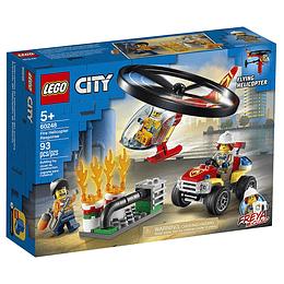 Lego City Intervención Del Helicóptero De Bomberos