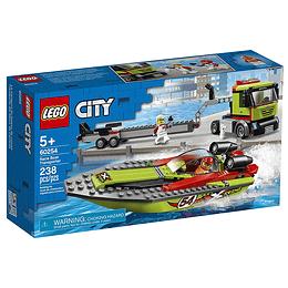 Lego City Transporte Del Barco De Carreras