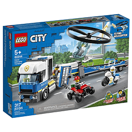 Lego City Policía: Camión De Transporte Del Helicóptero
