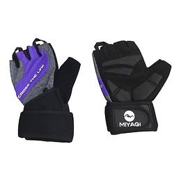 Guante Para Deporte Miyagi Negro/Púrpura