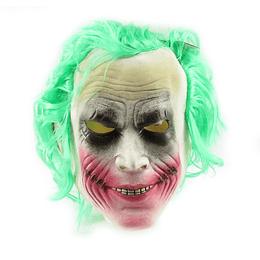 Mascara de Guasón en Látex con Pelo x 1 Unidad