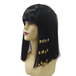 Peluca Cleopatra con Trenzas X 1 Unidad