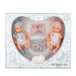 Bebe Baby So Lovely Set X 2 Con Ropita