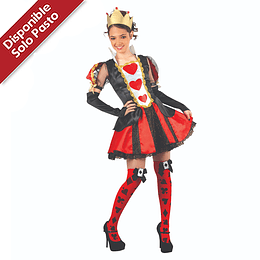 Disfraz de Reina de Corazones Deluxe Falda Corta
