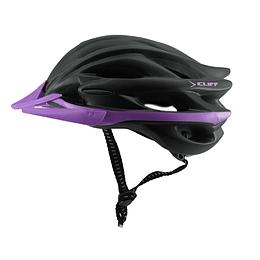 Casco Cliff Race Mtb Negro/Púrpura Unive Fit