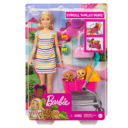 Barbie Carriola De Perritos