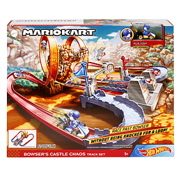 Hot Wheels Mario Kart Pista Castillo De Bowser