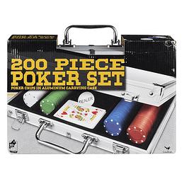 Set De Póker De 200 Fichas