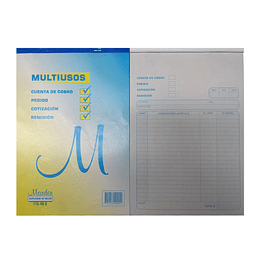 Talonario Multiusos 116-40 D