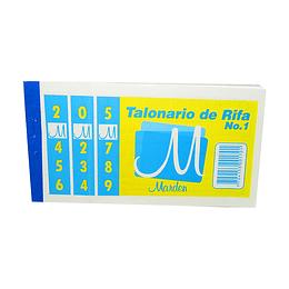 Talonario De Rifa No.1