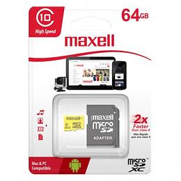Memoria Micro SDXC Maxell 64 GB Clase 10
