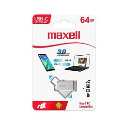 Memoria USB Maxell  Otg 64GB 3.0 Conect Tipo C