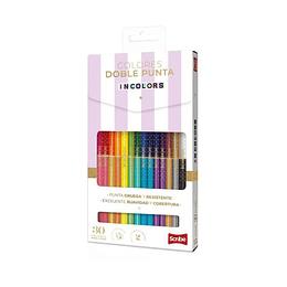 Colores Doble Punta Incolors X 30 Unidades