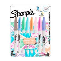 Marcadores Sharpie Pastel X 8 Unidades
