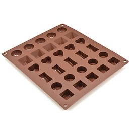 Molde De Silicona Para Chocolates Press