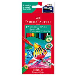 Colores Faber-Castell Acuarelables x 12 Unidades