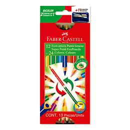 Colores Faber-Castell Bicolor 12/24 Unidades