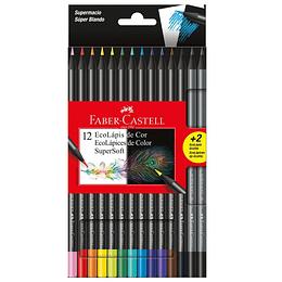 Colores Faber-Castell Super Soft x 12 Unidades + 2