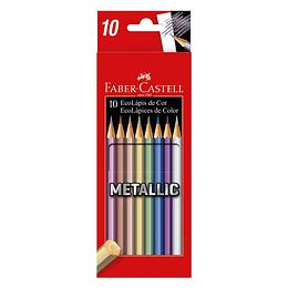Colores Faber-Castell Matallic x 10 Unidades