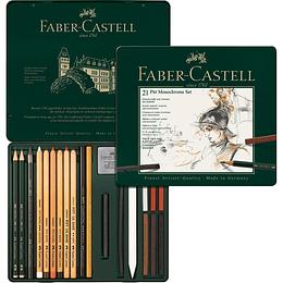 Juego Pitt Set Mediano Faber-Castell x 21 Piezas