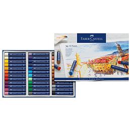 Tiza Oleo Pastel Faber-Castell x 36 Unidades