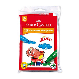 Plumones Faber-Castell Mini Jumbo x 10 unidades