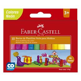 Plastilina Neón Faber-Castell x 10