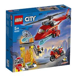 Lego City: Helicóptero De Rescate De Bomberos