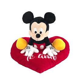 Peluche Mickey Sentado en Corazón