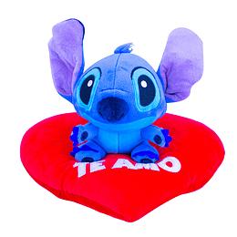 Peluche Stitch Sentado en Corazón