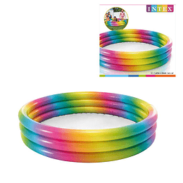 Piscina Inflable 3 Anillos Intex Arco Iris