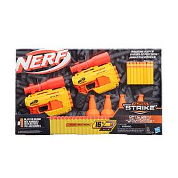 Nerf Alpha strike Optic Qs-4 2-Pack + Targets