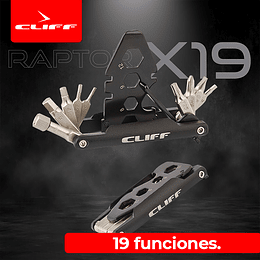 Multiherramienta Cliff Raptor X 19 Negra