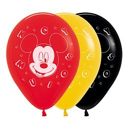 Globo R-12 Impreso Mickey Facetime x 10