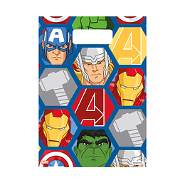 Bolsita Impresa Avengers x 8 Unidades