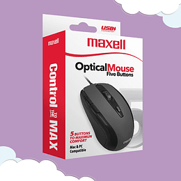Mouse Maxell  Mowr-105 Optical Five Button Black