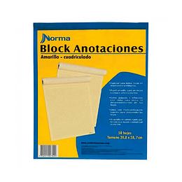 Block Anotaciones Carta Cuadros