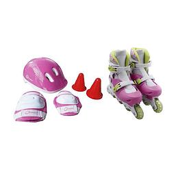 Set De Patinaje Pink Epic Qmax M